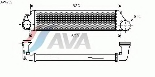 Интеркулер AVA QUALITY COOLING BW4282