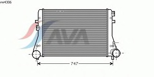 Интеркулер AVA QUALITY COOLING VW4306